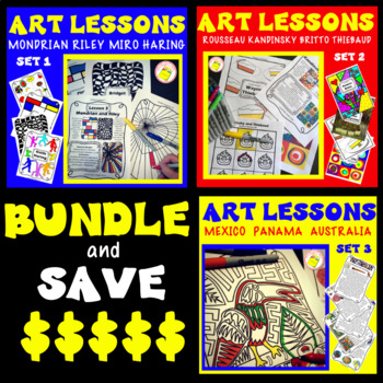 Art Lessons Combining Artists and Cultures - One Day Wonders Bundle