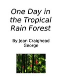One Day in the Tropical Rain Forest Literature Circle Assignment Packet