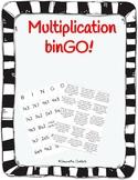 One Digit Multiplication Bingo