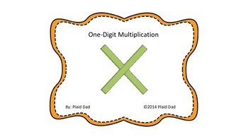 One-Digit Multiplication Task Cards
