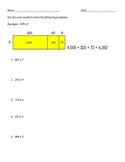 One Digit by Three Digit Area Model Worksheet