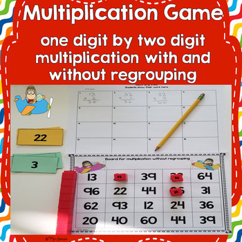 One-Digit by Two-Digit Multiplication Game