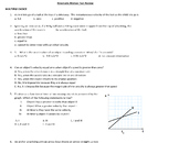 Physics: One-Dimensional Kinematics Chapter Review Sheet