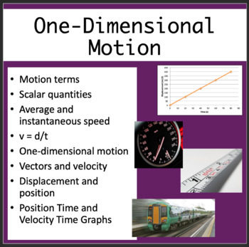 One-Dimensional Motion - Physics PowerPoint Lesson, Assignment & Student Notes