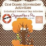 One Dozen November Activities