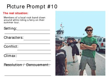 One Dozen Picture Prompts for Narrative Writing Practice