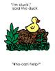 One Duck Stuck..Free Interactive Adapted Reader (Boardmaker)