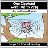 One Elephant Shared Reading Poetry Center Pocket Chart Son