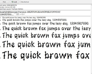 One Fab Firstie Font