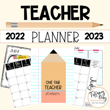 One Fab Teacher Weekly Planner Editable 2020-2021