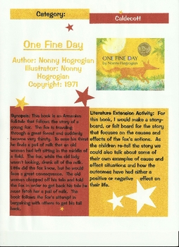 One Fine Day By: Nonny Hogrogian