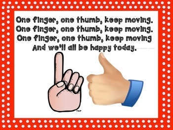 One Finger One Thumb Song Book