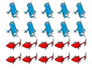 One Fish, Two Fish A Dr. Seuss themed Addition and Subtraction Game