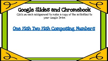 One Fish Two Fish Composing Numbers (Dr. Seuss theme) -A Digital Math Center