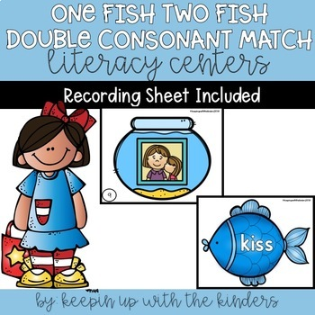 One Fish Two Fish Double Consonant Matching with Recording Sheet
