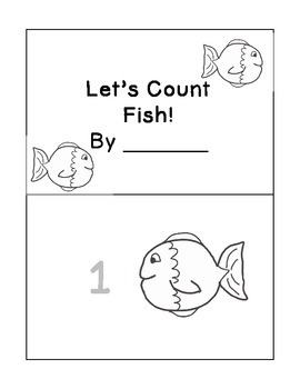 FREE Fish Emergent Reader Counting Book for Preschool