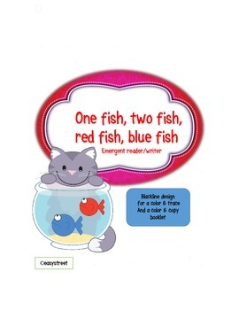One Fish Two Fish Emergent Reader / Writer Mini-Book