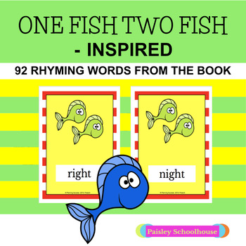 One Fish Two Fish - Inspired Rhyming Cards (Dr. Seuss - Inspired)