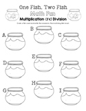 One Fish, Two Fish Math Fun - Multiplication and Division Worksheet