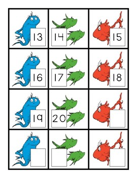 One Fish, Two Fish Math Mat