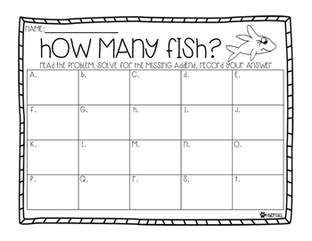 One Fish, Two Fish, How Many Fish? Missing Addends