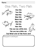 One Fish, Two Fish Poem