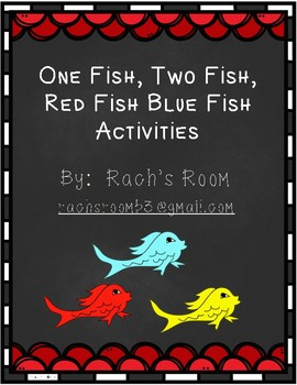 One fish two fish red fish blue fish activities by rach for One fish two fish red fish blue fish activities