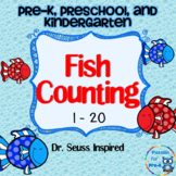 Red Fish Blue Fish Number Matching-Fish Counting for Pre-K