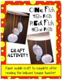 One Fish Two Fish Red Fish Blue Fish Paper Plate Craft Act