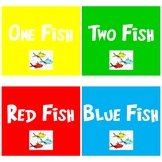 One Fish Two Fish Red Fish Blue Fish Printable Signs for I