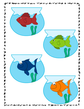 One Fish, Two Fish, Red Fish, Blue Fish - goldfish activity