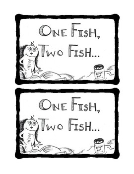 One Fish, Two Fish Seuss Labels