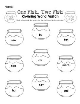 One Fish, Two Fish  - Word Rhyme Pack