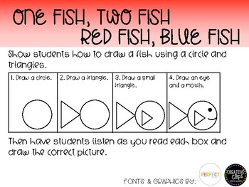 One Fish Two Fish following directions activity