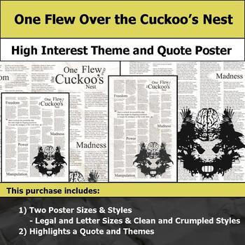 One Flew over the Cuckoo's Nest - Visual Theme & Quote Poster - Bulletin Boards