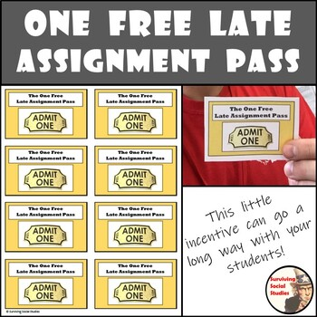 One Free Late Assignment Pass