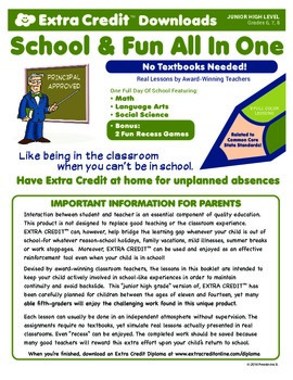 One Full Day Of Junior High From EXTRA CREDIT™!