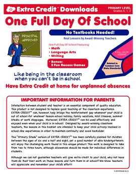 One Full Day of Primary School From EXTRA CREDIT™!