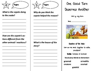 One Good Turn Deserves Another Trifold - Reading Street 2nd Grade Unit 2 Week 5