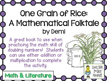 One Grain of Rice: A Mathematical Folktale ~ Doubling Numbers Pack