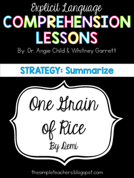One Grain of Rice - Summarize Comprehension Lesson Plan
