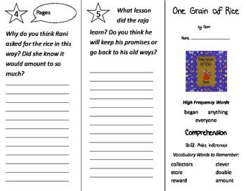One Grain of Rice Trifold - California Treasures 2nd Grade Unit 2 Week 4