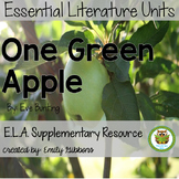 One Green Apple by Eve Bunting Book Unit
