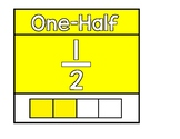 One Half Fraction Poster