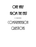 One Half from the East by Nadia Hashimi Comprehension Questions
