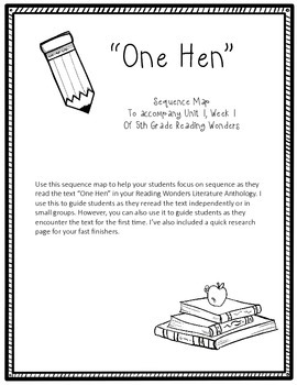 One Hen Sequence Map (Reading Wonders)