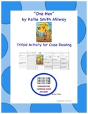 """""""One Hen"""" Trifold Activity Reading Wonders 5th Grade"""