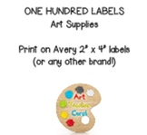 "One Hundred Art Supply 2 "" x 4"" Avery Labels"