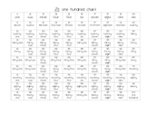 One Hundred Chart in Words
