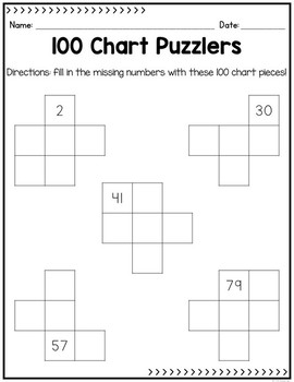 100 Chart Activities and Posters